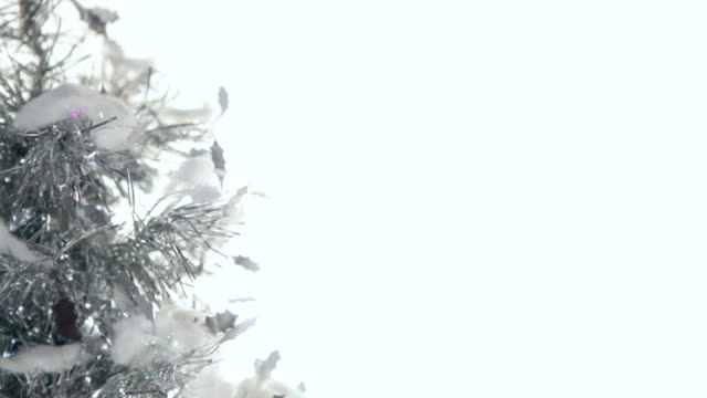 Fiber Optic Metallic Christmas Tree Background HDNTSC Video