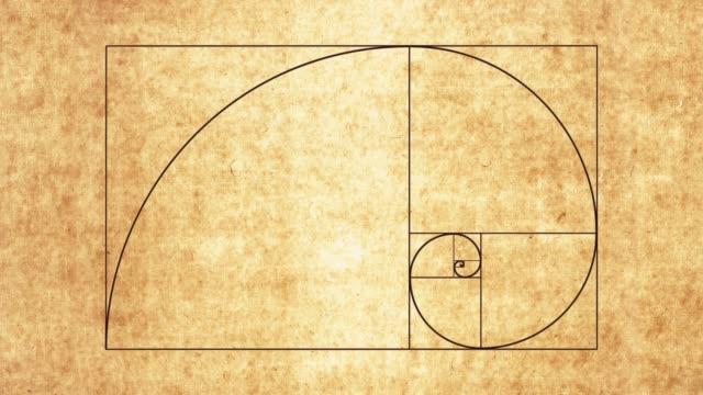 斐波那契螺旋 - golden ratio 個影片檔及 b 捲影像