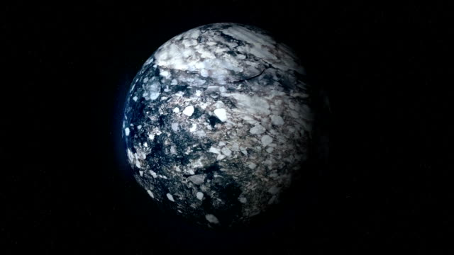 Fictional Frozen Ice Planet in Space video