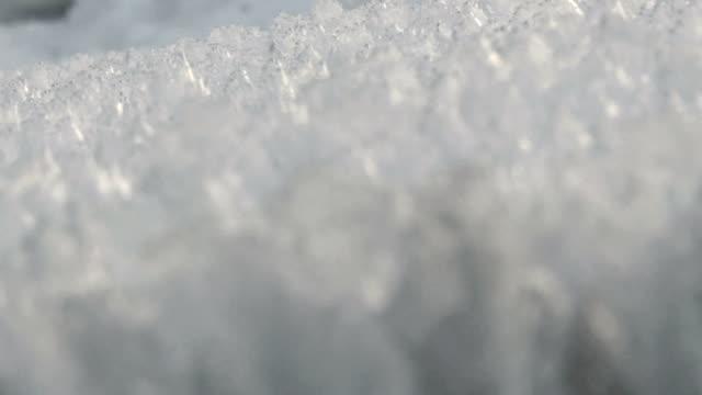 Field of Ice Rack Focus / Hoar Frost video