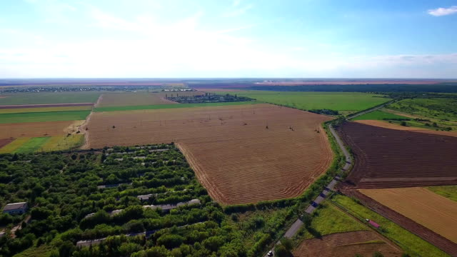 Fields with various types of agriculture video
