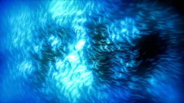 Fiery Dense Particles Blue