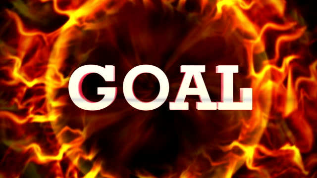 Fiery Goal Text, and Fiery Ring, Loop video