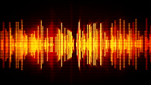 fiery high-tech waveform seamless loop motion background - frequenza video stock e b–roll