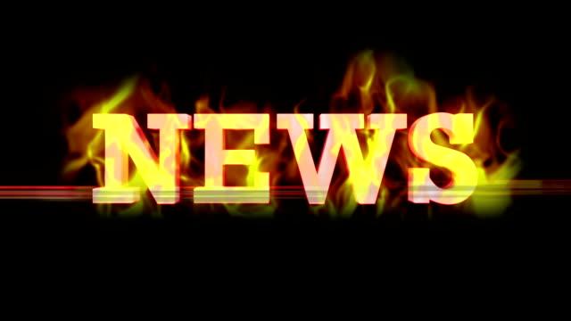 stockvideo's en b-roll-footage met fiery news text,  loop - magazine mockup