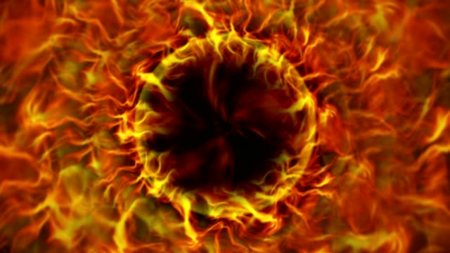Fiery Ring, Flames Background, Animation, Rendering, Loop video