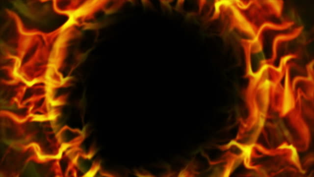 Fiery Ring, Flames Background, Loop, 4k video