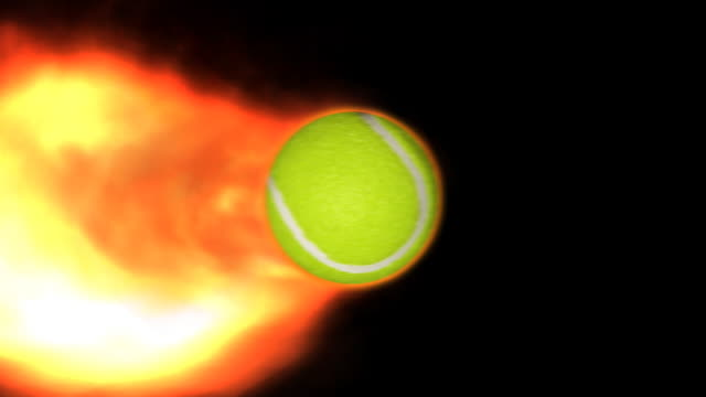 HD - Fiery Tennis Ball video