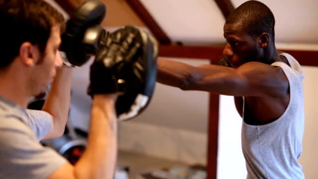 fight against sports targets - class стоковые видео и кадры b-roll
