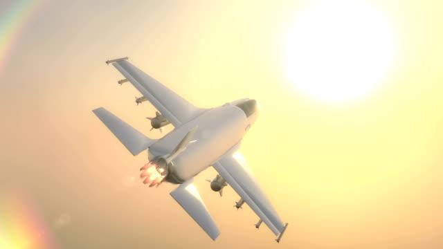 vídeos y material grabado en eventos de stock de animación 3d combatiente de jet - air force