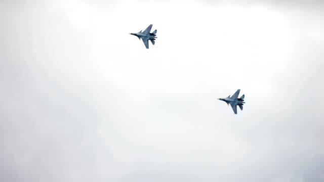 Fighter jet formation video