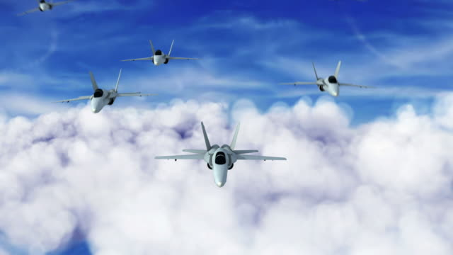Fighter Jet teamwork 1080 HD video