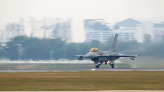 Fighter Plane Taking Off. video
