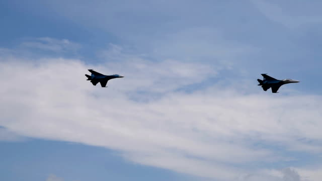 Fighter planes in the sky video