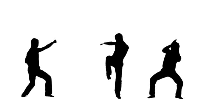 kämpfer-profile von athleten - karate stock-videos und b-roll-filmmaterial