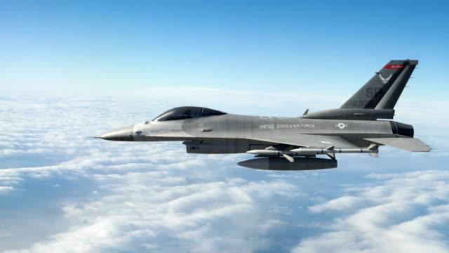 vídeos y material grabado en eventos de stock de general dynamics f-16 falcon - air force