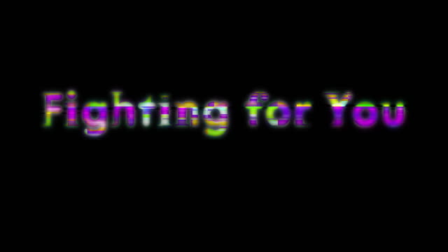 Fighting for You Scan Line Words