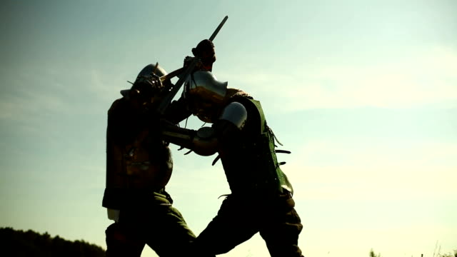 Fighting Fighting. knight person stock videos & royalty-free footage