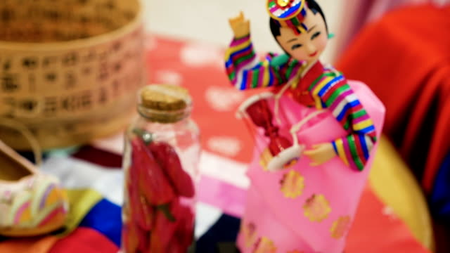 figurine is a traditional Korean doll video