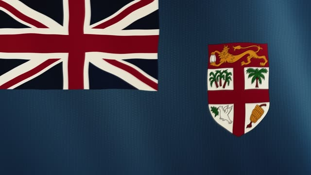 Fiji flag waving animation. Full Screen. Symbol of the country video