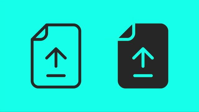 ファイルのアップロード - ベクトル アニメーション - レポートのビデオ点の映像素材/bロール