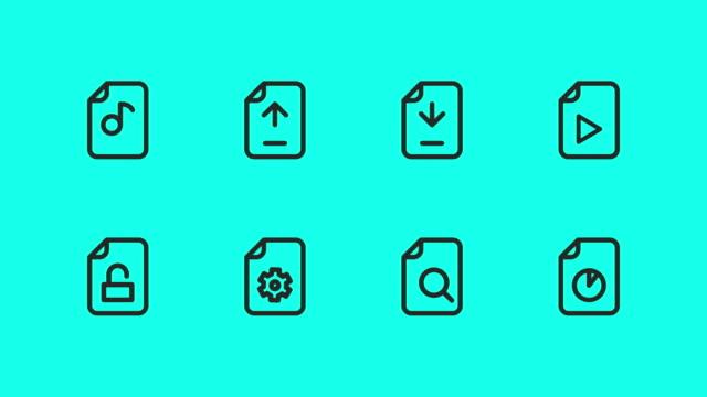 ファイル - ベクトル アニメーション - レポートのビデオ点の映像素材/bロール