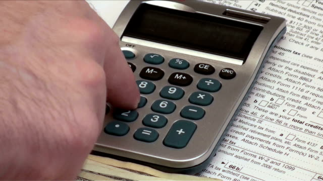 Filing tax return and cash - HD video
