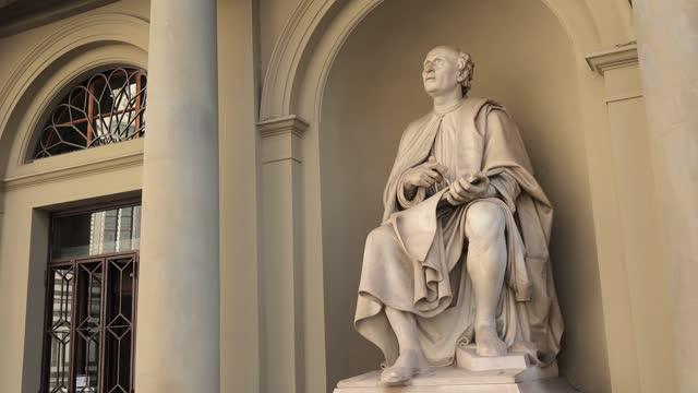 Filippo Brunelleschi statue near Santa Maria del Fiore Duomo of Florence