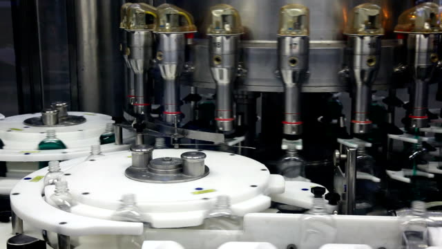 Filling line HD. Liquid detergent factory.  Please see more of my video clips factory for the production of detergent. dishwashing liquid stock videos & royalty-free footage