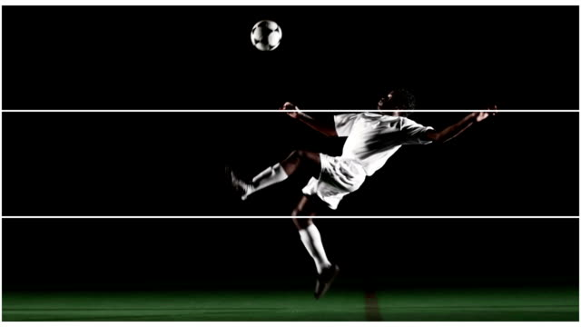 film composite fußball-aktionen - geköpft stock-videos und b-roll-filmmaterial