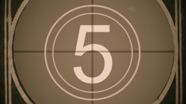 Film Leader Countdown with Grain video