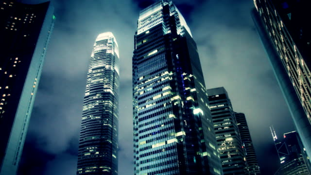 Film Look Timelapse Contemporary City Skyscraper Film Look Timelapse Contemporary City Skyscraper. Hong Kong City Night. large stock videos & royalty-free footage
