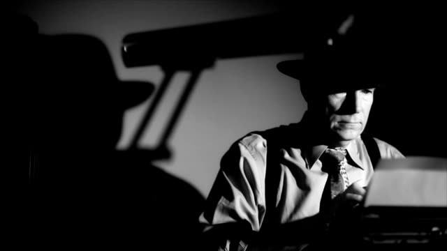 Cine negro informante mecanografía - vídeo