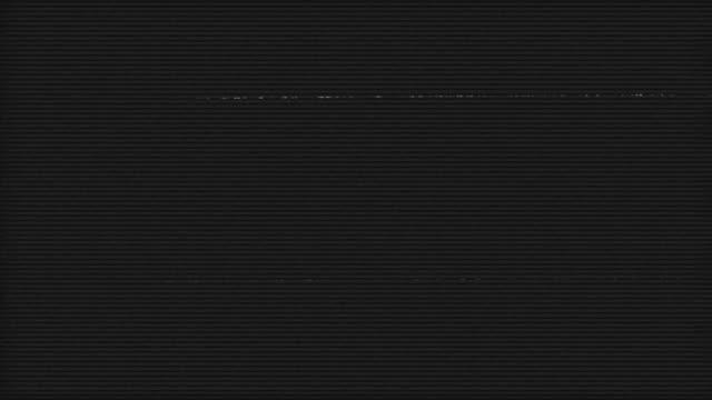 Film Noise on Analog TV Screen VHS