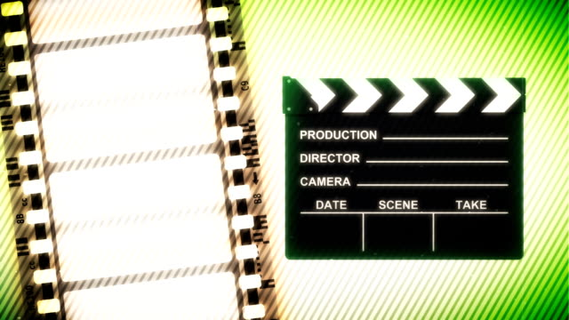 Film Reel and Clapper video