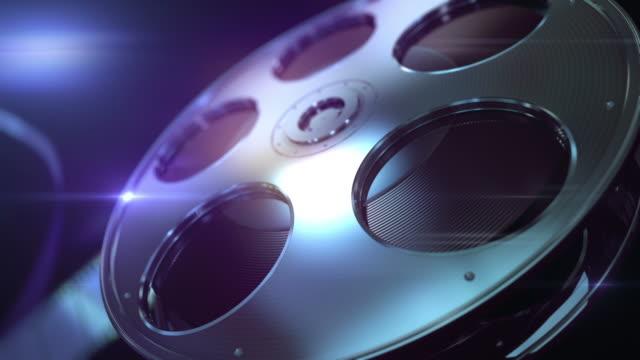 film reel loopable background - hollywood sign bildbanksvideor och videomaterial från bakom kulisserna