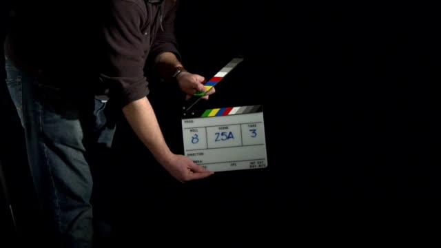 vidéos et rushes de clap de cinéma - ardoise