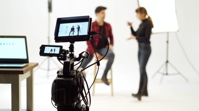 映画スタジオ - 映画用カメラ点の映像素材/bロール