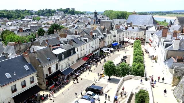 HD film tilt: Amboise cityscape, France