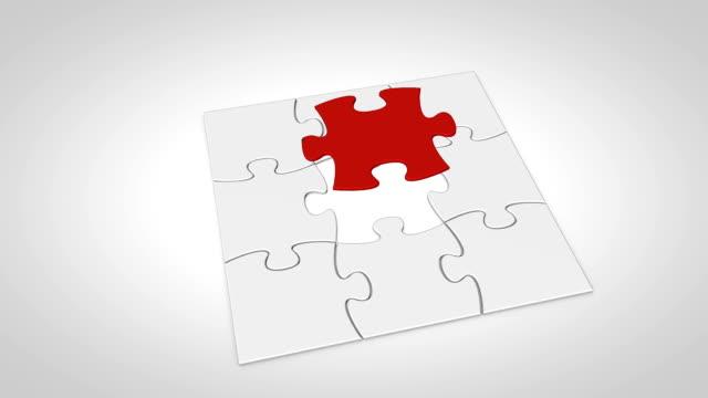 vídeos y material grabado en eventos de stock de final puzzle piezas falls en el lugar - imperfección