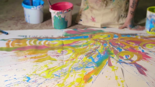 Final Splashes of Paint video