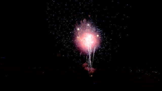 finale of july 4th independence celebration in san jose, ca - luglio video stock e b–roll