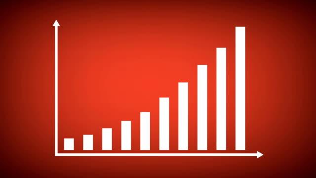 finanzen oder business balkendiagramm oder chart-konzept. - flat design videos stock-videos und b-roll-filmmaterial