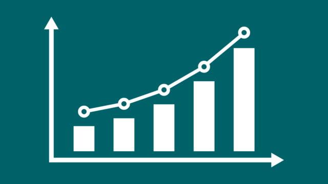 ekonomi eller business infographic stapeldiagram eller diagram koncept. - growth bildbanksvideor och videomaterial från bakom kulisserna