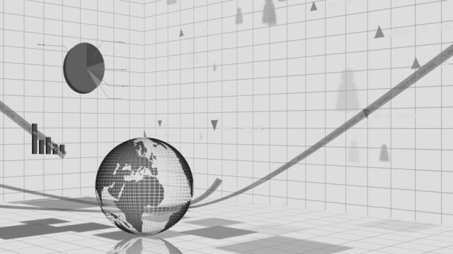 financial and stock market data animation,gray color video