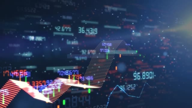 stockvideo's en b-roll-footage met financiële en technische gegevensanalyse grafiek resultaat resultaten - aandelen