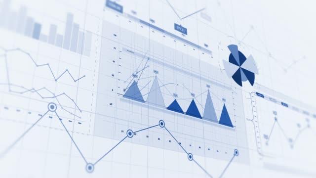4K finansal Iş çizelgeleri, grafikler ve diyagramları. video