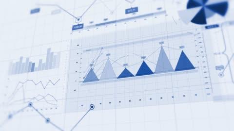 4k financial business charts, graphs and diagrams. - computergrafiken stock-videos und b-roll-filmmaterial