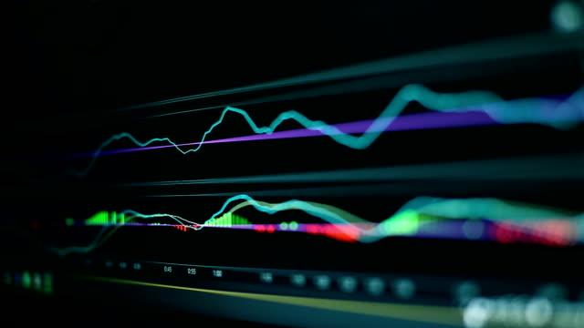 vidéos et rushes de arrière-plan du graphique entreprise financière graphique graphique analyse boursière - book