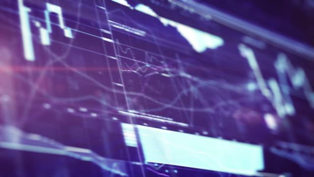 Financial Chart on Digital Display. 4k video background video